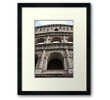 Coliseum base up Framed Print