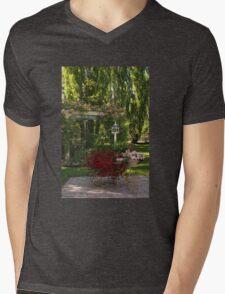 Portrait of a Peaceful Summer Garden Mens V-Neck T-Shirt