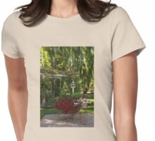 Portrait of a Peaceful Summer Garden Womens Fitted T-Shirt