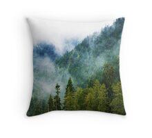 Mountain Fog Throw Pillow