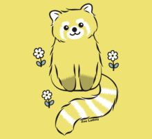 Red Panda with White Flowers Baby Tee