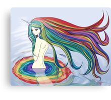 Rainbow Bath Canvas Print