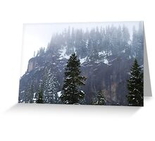 Mountain Snow in May Greeting Card