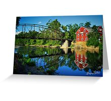 War Eagle Mill and Bridge Greeting Card