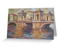 In Love- Lomonosov Bridge Across The Fontanka, Saint Petersburg, Russian Federation Greeting Card