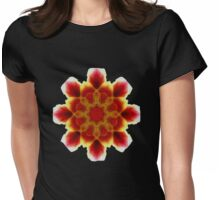 Flaming Lily Tee, Womens Fitted T-Shirt