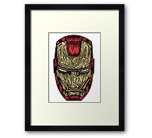 Iron Man Mask  Framed Print