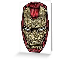 Iron Man Mask  Greeting Card