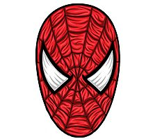 Spiderman Mask Photographic Print