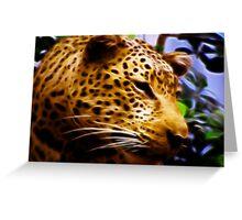 Fractalius Leopard Greeting Card