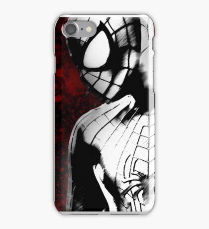 Spider-Man : Black & White  iPhone Case/Skin