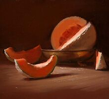 """""""Cantaloupe in a Footed-Bowl"""" by JCLambert"""