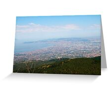 Naples from Vesuvius  Greeting Card