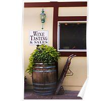 Decorative wine barrel Poster