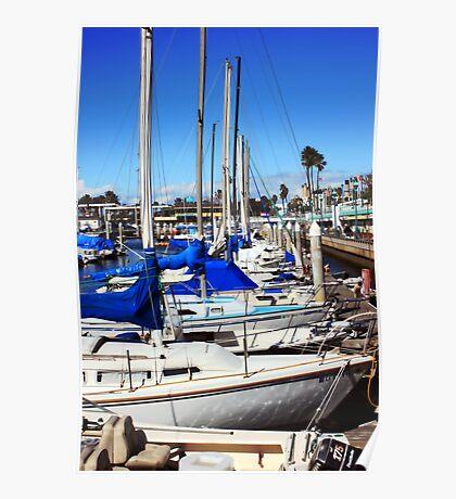 Redondo Beach Harbor 1118 Poster