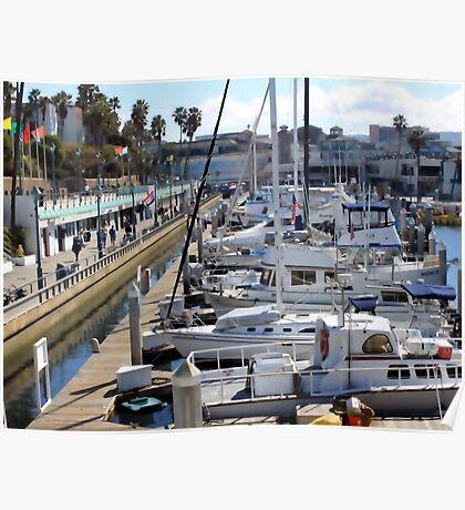 Redondo Beach Harbor 1130 Poster