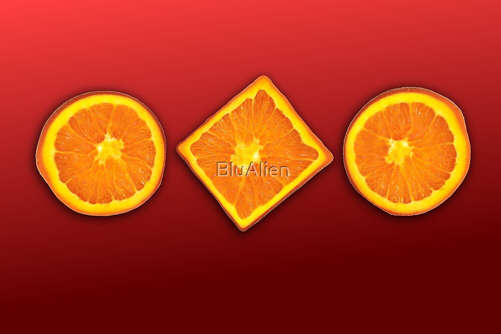 Think Outside The Orange by BluAlien