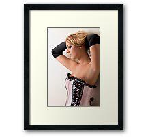 Pink Corset Framed Print