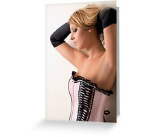 Pink Corset Greeting Card