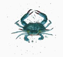Blue Crab Watercolor T-Shirt