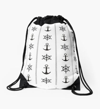 Anchor and timon Drawstring Bag