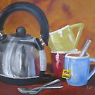 Still life - Time for tea by Tash  Luedi Art