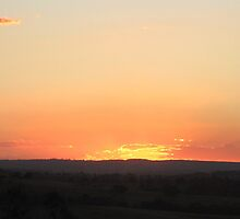 Queensland Country sunset by Tony Mutton