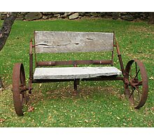 Wagon Seat Photographic Print