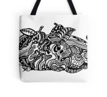 Fruit 1 - An Aussie Tangle Black & White  Tote Bag