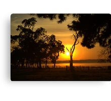 Rural sunrise Canvas Print