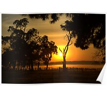 Rural sunrise Poster