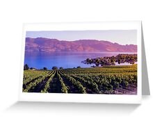 Okanagan Vineyard  Greeting Card