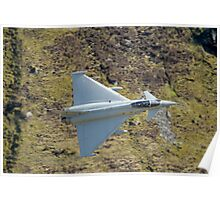 Lowflying Typhoon in the Welsh hills April 2010 Poster