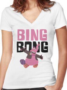 Bing Bong Bing Bong! #2 Women's Fitted V-Neck T-Shirt