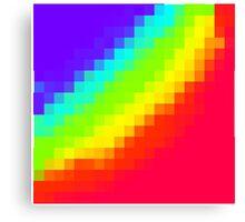 Pixel Rainbow Canvas Print