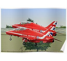 The Red Arrows Depart From Biggin Hill Poster