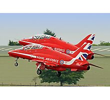 The Red Arrows Depart From Biggin Hill Photographic Print