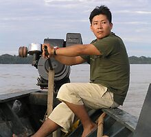 Boater at Madre de Dios  by Nupur Nag