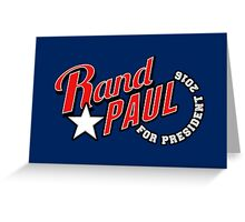 Rand Paul for President 2016 Greeting Card
