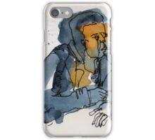the listening man iPhone Case/Skin
