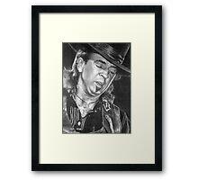 Stevie Ray Vaughan SRV Framed Print