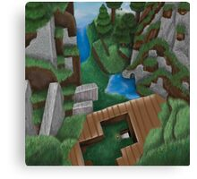 Realistic Minecraft World Canvas Print