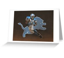 Barry Sanders Lions Greeting Card