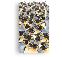 King penguin mob Canvas Print