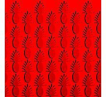Pineapple Lines - true red Photographic Print