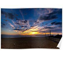 Sunset,Mordialloc Beach,Melbourne Poster