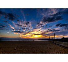 Sunset,Mordialloc Beach,Melbourne Photographic Print