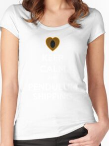 Keep Clam and Pendulumshipping! Women's Fitted Scoop T-Shirt