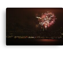 San Francisco July 4th fireworks Canvas Print