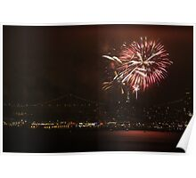 San Francisco July 4th fireworks Poster